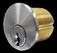 from outside. Inside cylinder turn retracts deadbolt but cannot project it. Specify handing. Cylinder Lock Deadbolt thrown or retracted by key from one side.