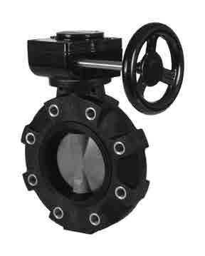 Lever Operated PVC Body Hayward BYV11020A0EL000 Series BYV Butterfly Valve 2 Size EPDM Seals PVC Disc