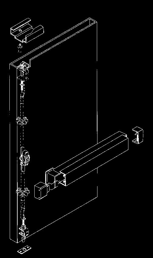 interlocks door to frame Top and bottom adjustable steel rods FOR SERIES 3600