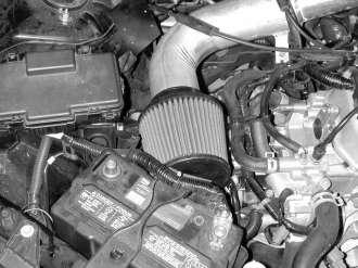 h. Ensure that the air filter is not touching any part of the vehicle. Position the inlet pipe for best fitment.